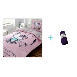 Lenjerie Hello Kitty Nature + 1 Patura Fleece