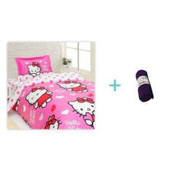 Lenjerie Hello Kitty Miss Love + 1 Patura Fleece